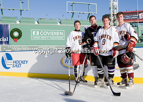 Steve Greeley, Michael Greeley, Jack Greeley, Tommy Greeley - Ice Hockey at Fenway Park on Tuesday, December 22, 2009, in Boston, Massachusetts.