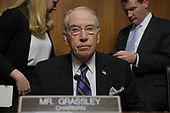 Senate Judiciary Committee Chairman Chuck Grassley (R-IA) looks on during a break in a confirmation hearing for U.S. Supreme Court nominee Brett Kavanaugh with Professor Christine Blasey Ford, who has accused Kavanaugh of a sexual assault in 1982, on Capitol Hill in Washington, U.S., September 27, 2018. REUTERS/Jim Bourg
