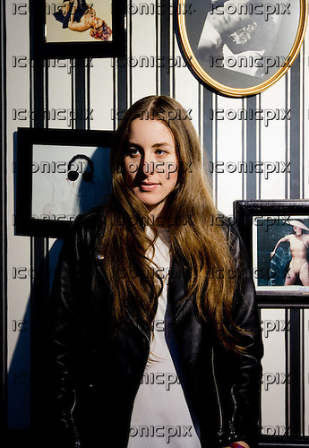 HAIM - lead guitarist and keyboardist Alana Haim - Portrait Photosession in Paris France - 02 Jun 2013.  Photo credit: Laurent Wallendorff/Dalle/IconicPix (UK ONLY)