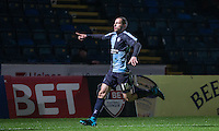 Michael Harriman of Wycombe Wanderers celebrates his goal during the Sky Bet League 2 match between Wycombe Wanderers and Notts County at Adams Park, High Wycombe, England on 15 December 2015. Photo by Andy Rowland.