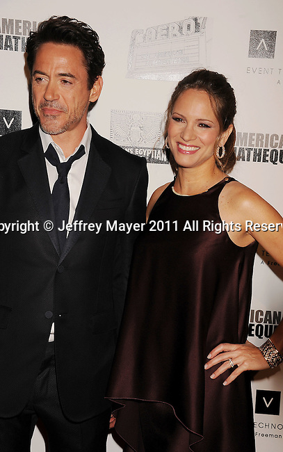 BEVERLY HILLS, CA - OCTOBER 14: Robert Downey, Jr. and Susan Downey arrive at the The 25th American Cinematheque Award Honoring Robert Downey Jr. at The Beverly Hilton hotel on October 14, 2011 in Beverly Hills, California.
