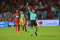 MEDELLÍN - COLOMBIA .22-08-2019:Bismark Santiago Pitalua referee central.Acción de juego entre los equipos Independiente Medellín y Águilas Doradas durante partido por la fecha 7 de la Liga Águila II 2019 jugado en el estadio Atanasio Girardot de la ciudad de Medellín. /Central Referee Bismark Santiago Pitalua .Action game between  Independiente Medellin  and Aguilas Doradas during the match for the date 7 of the Liga Aguila II 2019 played at the Atanasio Girardot  Stadium in Medellin  city. Photo: VizzorImage /León Monsalve / Contribuidor.