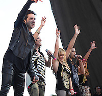 La cantante Lidia Avila, Ari Borovoy, Erika Zaba, Mariana Ochoa  durante su presentacion en el concierto Exa 2013 en Leon Guanajuato.<br /> (*Foto:TiradorTercero/NortePhoto*) ...<br /> ,OV7