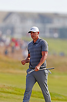 Brooks Koepka (USA) walks off the green after making a par saving putt on the 14th hole during the 118th U.S. Open Championship at Shinnecock Hills Golf Club in Southampton, NY, USA. 17th June 2018.<br /> Picture: Golffile | Brian Spurlock<br /> <br /> <br /> All photo usage must carry mandatory copyright credit (&copy; Golffile | Brian Spurlock)