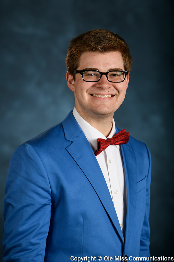 Austin Fitts. School of Pharmacy PY1 Class 2018. Photo by Thomas Graning/Ole Miss Communications