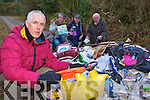 Dominick Quinn, Claire Morris, Denis Courtney and Noel Grimes who are disgusted by the illegal dumping of rubbish in the Upper Torc car park Killarney over the weekend