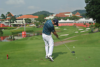 Kevin Streelman (USA) on the 14th tee during Round 3 of the CIMB Classic in the Kuala Lumpur Golf & Country Club on Saturday 1st November 2014.<br /> Picture:  Thos Caffrey / www.golffile.ie