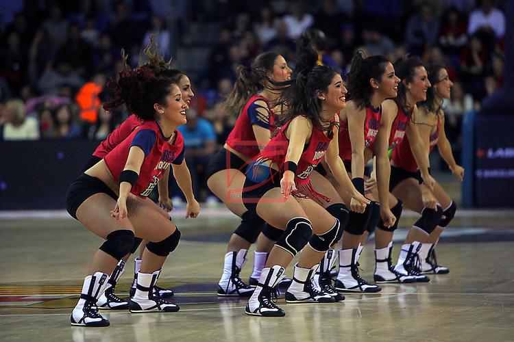 Turkish Airlines Euroleague 2015-2016.<br /> Top 16 - Round 8.<br /> FC Barcelona Lassa vs Olympiakos Piraeus: 82-66.<br /> Dream Cheers.