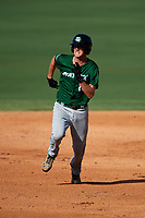 Daytona Tortugas third baseman Blake Butler (16) running the bases during the first game of a doubleheader against the Clearwater Threshers on July 25, 2017 at Spectrum Field in Clearwater, Florida.  Daytona defeated Clearwater 4-1.  (Mike Janes/Four Seam Images)