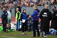 Sophie Bennett of Bath Rugby looks on from the sidelines. Gallagher Premiership match, between Bath Rugby and Harlequins on March 2, 2019 at the Recreation Ground in Bath, England. Photo by: Patrick Khachfe / Onside Images