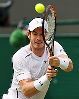 England, London, Juli 02, 2015, Tennis, Wimbledon, Andy Murray (GBR) in his match against Robin Haase (NED)<br /> Photo: Tennisimages/Henk Koster