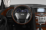 Car pictures of steering wheel view of a 2018 Infiniti QX80 Base 5 Door SUV