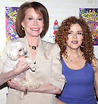 Mary Tyler Moore & Bernadette Peters.Backstage at Broadway Barks Lucky 13th Annual Adopt-a-thon  in New York City.