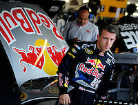 Sept. 26, 2008; Kansas City, KS, USA; Nascar Sprint Cup Series driver A.J. Allmendinger during practice for the Camping World RV 400 at Kansas Speedway. Mandatory Credit: Mark J. Rebilas-