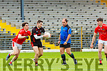 Brian Ó Beaglaoich West Kerry tracks  Paul O'Connor  Kenmare  during their SFC clash in Fitzgerald Stadium on Sunday