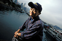 Jack Ma, a Chinese business man who has built e-commerce firm Alibaba into behemoth.  A former school teacher from China, chairman and chief executive of Alibaba group<br /> Photo was taken in Hong Kong in Aug 2003