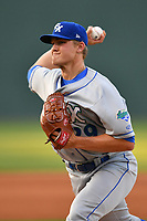 Starting pitcher Jace Vines (29) of the Lexington Legends delivers a pitch in a game against the Greenville Drive on Wednesday, April 12, 2017, at Fluor Field at the West End in Greenville, South Carolina. Greenville won, 4-1. (Tom Priddy/Four Seam Images)