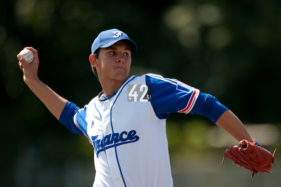 Baseball - 2009 European Championship Juniors (under 18 years old) - Bonn (Germany) - 05/08/2009 - Day 3 - Quentin Becquey (France)