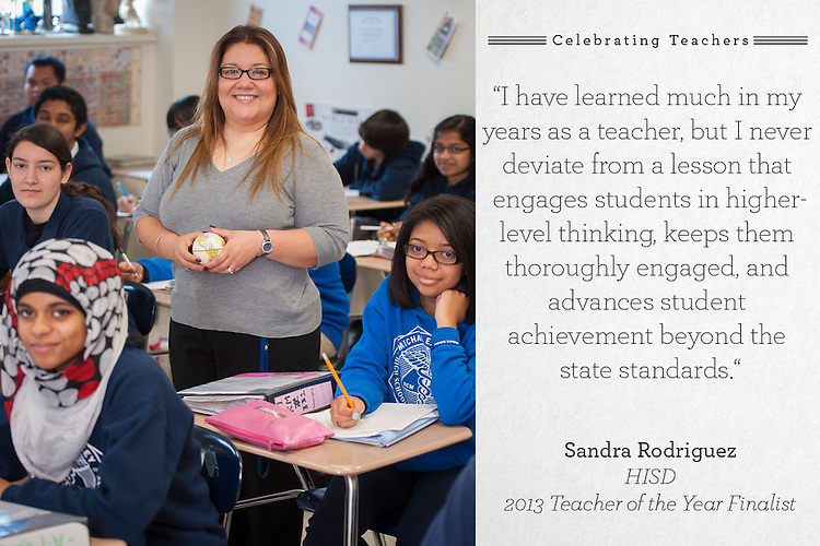 DeBakey High School teacher of the year finalist Sandra Rodriguez