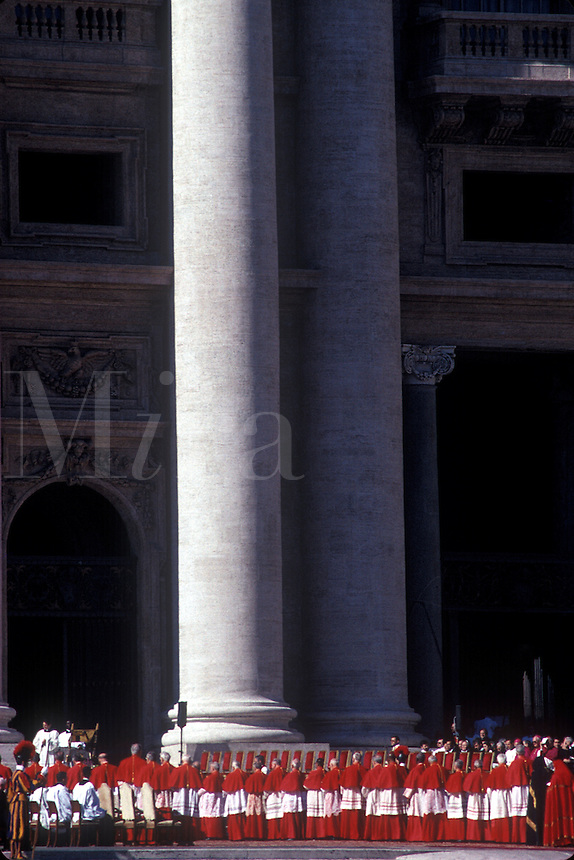 Catholic Bishops become Cardinals in ceremony at St Peters Square, Vactican City, Rome, Italy, Febuary, 2001