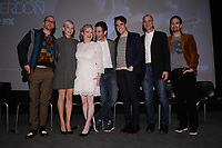 """NEW YORK - APRIL 7: (L-R) Sam Rockwell, Michelle Williams, Nicole Fosse, Thomas Kail, Steve Levenson, Joel Fields and Lin-Manuel Miranda attend the Q&A after the screening of FX's """"Fosse Verdon"""" presented by FX Networks, Fox 21 Television Studios, and FX Productions at the Museum of Modern Art on April 7, 2019 in New York City. (Photo by Anthony Behar/FX/PictureGroup)"""