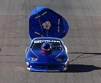 Feb 27, 2016; Chandler, AZ, USA; NHRA top sportsman driver Mera Silvia-Mirizio during qualifying for the Carquest Nationals at Wild Horse Pass Motorsports Park. Mandatory Credit: Mark J. Rebilas-