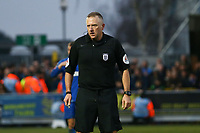 Referee Jonathan Moss during AFC Wimbledon vs Millwall, Emirates FA Cup Football at the Cherry Red Records Stadium on 16th February 2019