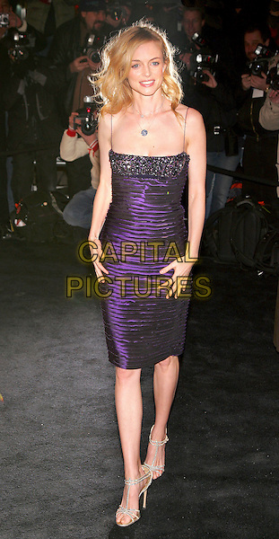 HEATHER GRAHAM.Versace Store Re-Opening Party at Versace 5th Avenue StoreNew York, NY, USA..February 7th, 2006.Photo: Jackson Lee/Admedia/Capital Pictures.Ref: JL/ADM.full length purple dress ribbed.www.capitalpictures.com.sales@capitalpictures.com.© Capital Pictures.