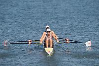 Rio de Janeiro. BRAZIL.   GBR W2X, Bow, Vicky THORNLEY and Katherine GRAINGER, moving away from the start pontoon at the 2016 Olympic Rowing Regatta. Lagoa Stadium,<br /> Copacabana,  &ldquo;Olympic Summer Games&rdquo;<br /> Rodrigo de Freitas Lagoon, Lagoa. Local    Saturday  06/08/2016 <br /> <br /> [Mandatory Credit; Peter SPURRIER/Intersport Images]