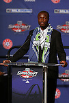 15 January 2009: Steve Zakuani was taken with the first overall pick by Seattle Sounders FC. The 2009 Major League Soccer SuperDraft was held at the Convention Center in St. Louis, Missouri in conjuction with the National Soccer Coaches Association of America's annual convention.