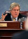 Nevada Sen. Tick Segerblom, D-Las Vegas, works in a committee hearing at the Legislative Building in Carson City, Nev., on Monday, May 11, 2015.   <br /> Photo by Cathleen Allison