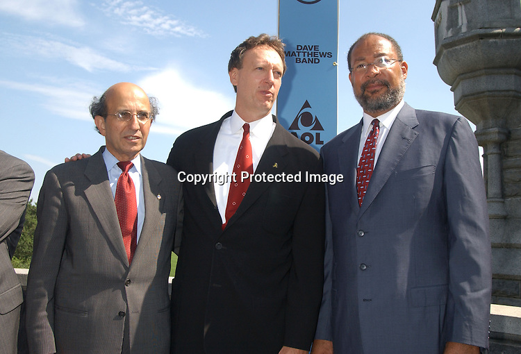 Joel Klein, Jon Miller and Richard Parsons                        .at the announcement of Dave Matthews Band concert on September 12, 2003 in Central Park. The concert will be in .Central Park on September 24, 2003. Photo By Robin Platzer, Twin Images
