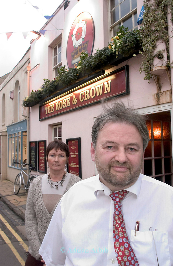 Andrew and  Debbie Hall who  have  run the Rose and Crown, North Parade, Oxford for over 20 years.  Andrew is a tenant of Punch who are a large Pub company owning over 7,000 premises. <br /> Andrew is finding that his earnings  are less now than they were in 1986 . He puts much of this down to the way that  the pub companies are squeezing their tenants financially.