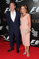 Geri Halliwell and Christian Horner arriving for the F1 Party 2014, The Victoria And Albert Museum, London. 02/07/2014 Picture by: Alexandra Glen / Featureflash