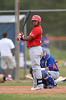 St. Louis Cardinals infielder Ronnierd Garcia (34) during a minor league spring training game against the New York Mets on March 27, 2014 at the Port St. Lucie Training Complex in St. Lucie, Florida.  (Mike Janes/Four Seam Images)