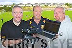 Dr Crokes members l-r: JC O'Shea, Brian O'Callaghan and John Keogh who have started streaming live Dr Crokes games on the internet