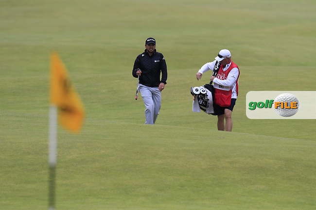 Jason DAY (AUS) walks onto the 18th green during Sunday's Round 3 of the 144th Open Championship, St Andrews Old Course, St Andrews, Fife, Scotland. 19/07/2015.<br /> Picture Eoin Clarke, www.golffile.ie
