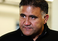 Wellington coach Jamie Joseph talks to the media after the Air NZ Cup preseason match between Manawatu Turbos and Wellington Lions at FMG Stadium, Palmerston North, New Zealand on Friday, 17 July 2009. Photo: Dave Lintott / lintottphoto.co.nz