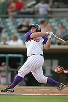 Brian Pellegrini of the Lancaster JetHawks during game against the Modesto Nuts at Clear Channel Stadium in Lancaster,California on July 15, 2010. Photo by Larry Goren/Four Seam Images
