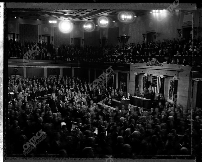 President George W. Bush, giving his State of the Union speech to the Joint Session of Congress. Washington, D.C. February 2, 2005.