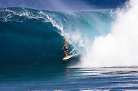 Kelly Slater(USA) surfing Backdoor after he had won his 7th ASP World Professional Surfing Champion title. Slater had secured the title in Europe earlier in the year. This wave was one of the waves of the 2005/6 winter on the North Shore of Oahu, Hawaii. Photo: joliphotos.com