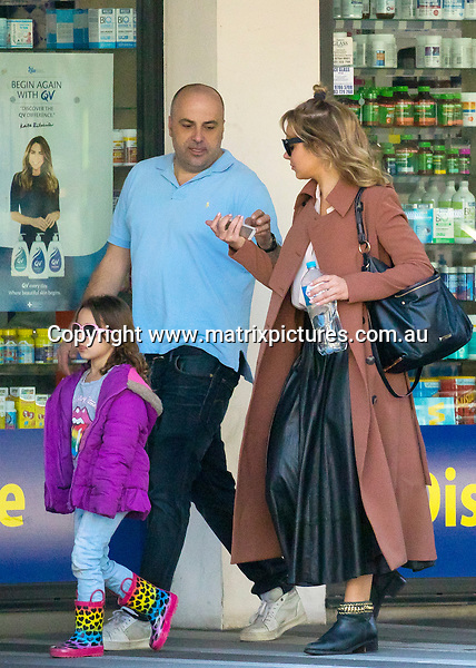 27 AUGUST 2016 SYDNEY, AUSTRALIA<br /> WWW.MATRIXPICTURES.COM.AU<br /> <br /> EXCLUSIVE PICTURES<br /> <br /> Jessica Marais pictured with daughter Scout along with Chrys Xipolitas and his son Johnas spending the day together. Chrys appeared smitten with Jessica and could barely keep his hands off her. The flirty pair treated the kids to some toy shopping at Toys R Us followed by a visit to Chrys' place. <br /> <br /> <br /> *ALL WEB USE MUST BE CLEARED*<br /> <br /> Please contact prior to use:  <br /> <br /> +61 2 9211-1088 or email images@matrixmediagroup.com.au