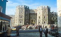 Windsor Castle, Windsor, UK, October, 1982, 198210000471WC4<br /><br />Copyright Image from Victor Patterson, 54 Dorchester Park, <br />Belfast, UK, BT9 6RJ<br /><br />t1: +44 28 9066 1296 (from Rep of Ireland 048 9066 1296)<br />t2: +44 28 9002 2446 (from Rep of Ireland 048 9002 2446)<br />m: +44 7802 353836<br /><br />victorpatterson@me.com<br />victorpattersonbelfast@gmail.com<br /><br />Please see my Terms and Conditions of Use at victorpatterson.com. It is IMPORTANT that you familiarise yourself with them.<br /><br />Images used on the Internet incur an additional cost and must be visibly watermarked i.e. &copy;Victor Patterson within the body of the image and copyright metadata must not be deleted. Images used on the Internet have a size restriction of 4kbs and are chargeable at rates available at victorpatterson.com.<br /><br />This image is available only for the use of the download recipient i.e. television station, newspaper, magazine, book publisher, etc, and must not be passed on to any third party. It is also downloaded on condition that each and every usage is notified within 7 days to victorpatterson@me.com<br /><br />The right of Victor Patterson (or the named photographer) to be identified as the author is asserted in accordance with The Copyright Designs And Patents Act (1988). All moral rights are asserted.