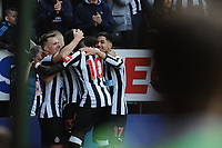 Matt Ritchie of Newcastle United scores Newcastle United's second goal during Newcastle United vs Arsenal, Premier League Football at St. James' Park on 15th April 2018