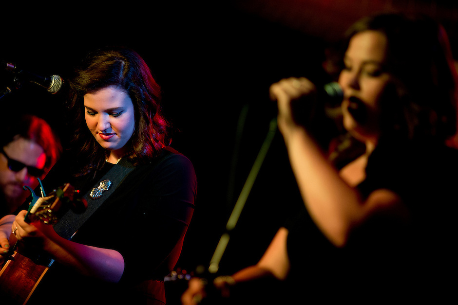 Lydia Rogers, left, and Laura Rogers perform with their band, The Secret Sisters, on Sunday, July 13, 2014, at The Hi-Fi in Indianapolis. (Photo by James Brosher)
