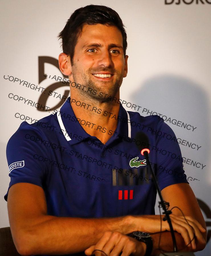 Tennis Tenis<br /> Novak Djokovic Press Conference<br /> Beograd, 26.07.2017.<br /> foto: Srdjan Stevanovic/Starsportphoto &copy;