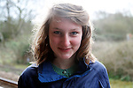 Model Released portrait of teenage girl aged fifteen
