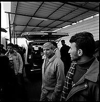 Rafah, Gaza Strip, Jan 15 2009.Abu Youssef Al Najjar Hospital morgue, Rafah. 7 men where killed overnight in Israeli bombing and shelling, including 4 in the destruction of Abrahr mosque, the largest in Rafah.