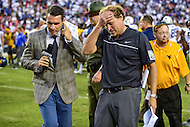 Landover, MD - SEPT 24, 2016: West Virginia Mountaineers head coach Dana Holgorsen following their win against BYU at FedEx Field in Landover, MD. (Photo by Phil Peters/Media Images International)