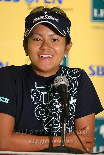 February 16, 2006 - Kahuku, HI - Ai Miyazato at a press conference after Round 1 of the LPGA SBS Open at Turtle Bay Resort...Photo: Darrell Miho